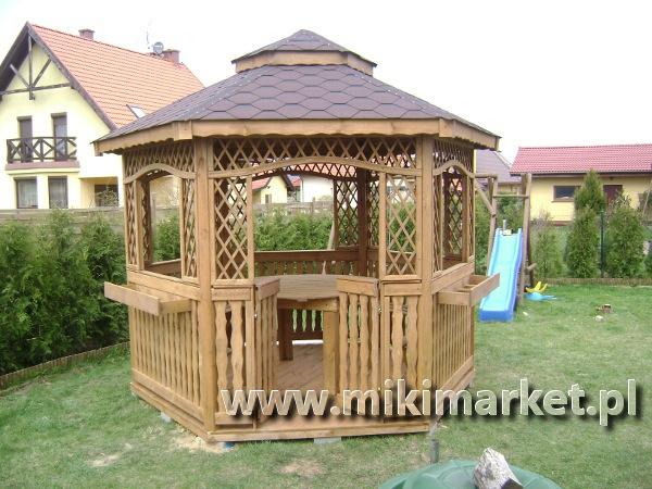 Altana Ogrodowa Sześciokątna Drewniana Nr1 Miki Market
