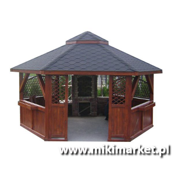 Altana Ogrodowa Sześciokątna Drewniana Nr19 Miki Market