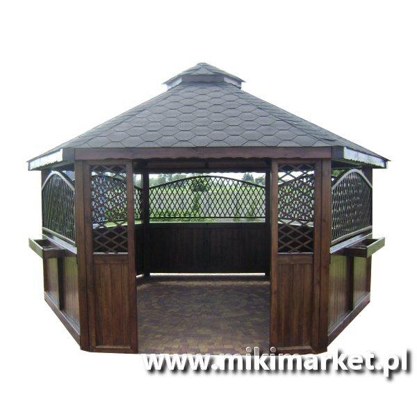 Altana Ogrodowa Sześciokątna Drewniana Nr21 Miki Market